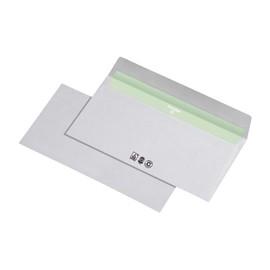 Briefumschlag ENVIRELOPE ohne Fenster DIN lang 110x220mm mit Haftklebung 80g hochweiß Recycling (PACK=1000 STÜCK) Produktbild
