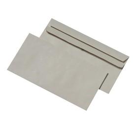 Briefumschlag selbstklebend grau 75g/m2 DIN lang+ 125x235mm / ohne Fenster / Material: Recycling-Papier (PACK=1000 STÜCK) Produktbild