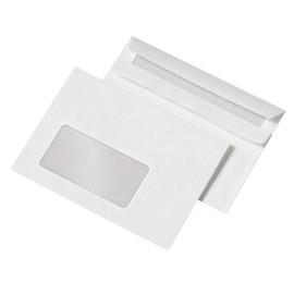 Briefumschlag mit Fenster C6 114x162mm selbstklebend 75g weiß mit grauem Innendruck (PACK=1000 STÜCK) Produktbild