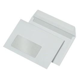 Briefumschlag mit Fenster C6 114x162mm mit Haftklebung 80g weiß mit grauem Innendruck (PACK=500 STÜCK) Produktbild