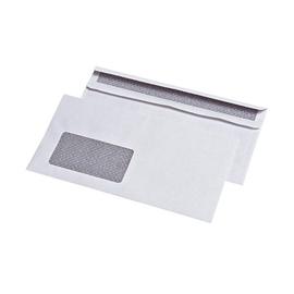 Briefumschlag mit Fenster DIN lang 110x220mm selbstklebend 75g weiß mit Zahlenmeer Innendruck+Sicherheitsschlitz (PACK=1000 STÜCK) Produktbild
