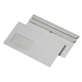 Briefumschlag mit Fenster DIN lang 110x220mm selbstklebend 75g grau Recycling (PACK=1000 STÜCK) Produktbild