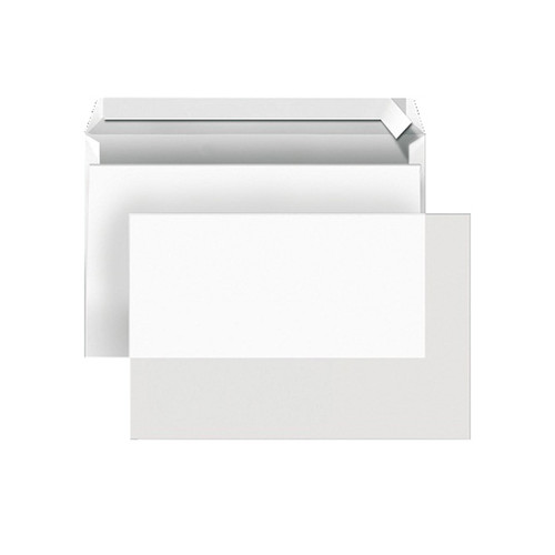 Briefumschlag ohne Fenster DIN lang 110x220mm mit Haftklebung 102g transparent (PACK=500 STÜCK) Produktbild Front View L