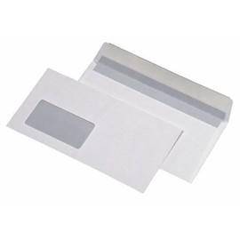Briefumschlag mit Fenster DIN lang 110x220mm mit Haftklebung 80g weiß mit grauem Innendruck (PACK=1000 STÜCK) Produktbild