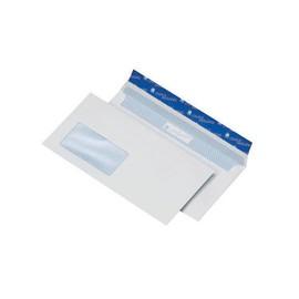Briefumschlag CYGNUS mit Fenster DIN lang 110x220mm mit Haftklebung 100g weiß mit blauem Innendruck (PACK=500 STÜCK) Produktbild