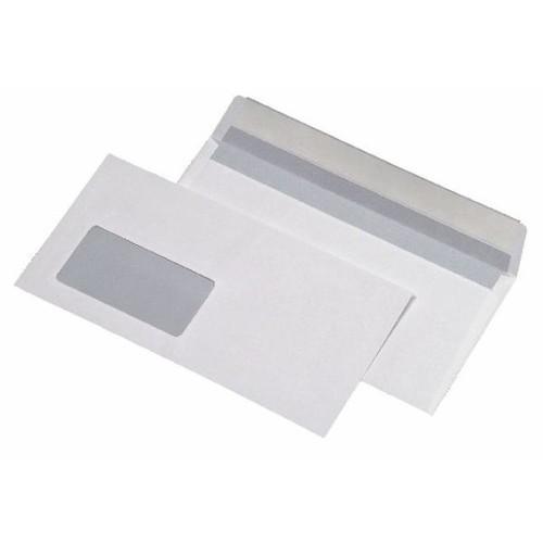 Briefumschlag mit Fenster 125x229mm selbstklebend 75g weiß mit grauem Innendruck (PACK=1000 STÜCK) Produktbild Front View L