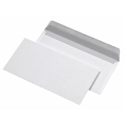 Briefumschlag selbstklebend weiß 75g/m2 DIN lang+ 125x235mm / ohne Fenster / (PACK=1000 STÜCK) Produktbild