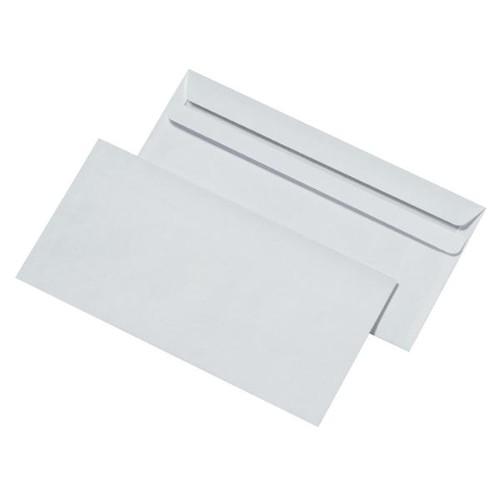 Briefumschlag selbstklebend weiß 75g/m2 DIN lang+ 125x235mm / ohne Fenster / (PACK=1000 STÜCK) Produktbild Additional View 1 L
