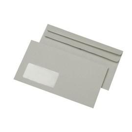 Briefumschlag mit Fenster 125x229mm selbstklebend 75g grau Recycling (PACK=1000 STÜCK) Produktbild