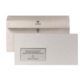 Briefumschlag selbstklebend grau 80g/m2 DIN lang+ 125x235mm / mit Fenster / Material: Recycling-Papier (PACK=1000 STÜCK) Produktbild