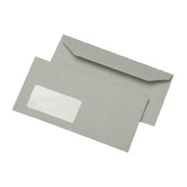 Briefumschlag mit Fenster 114x229mm selbstklebend 80g grau Recycling (PACK=1000 STÜCK) Produktbild