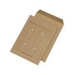 Versandtasche HAUSPOST mit 4 Sichtlöchern und Tabellendruck B4 250x353mm nassklebend 110g braun Natron (PACK=250 STÜCK) Produktbild
