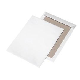 Versandtasche ohne Fenster mit Papprückwand C4 229x324mm mit Haftklebung 120g weiß (PACK=100 STÜCK) Produktbild