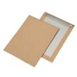 Versandtasche ohne Fenster mit Papprückwand C4 229x324mm mit Haftklebung 110g braun Natron (PACK=100 STÜCK) Produktbild
