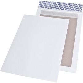 Versandtasche ohne Fenster mit Papprückwand B4 250x353mm mit Haftklebung 120g weiß (PACK=100 STÜCK) Produktbild
