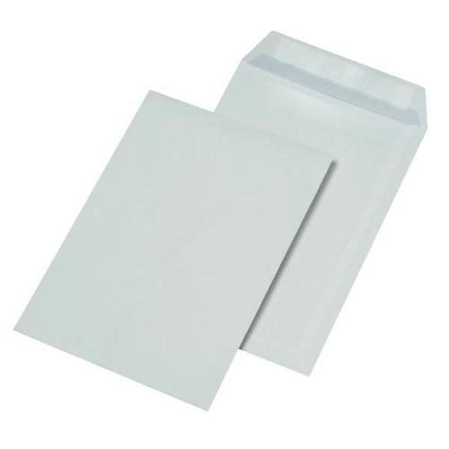 Versandtasche ohne Fenster C5 162x229mm selbstklebend 90g weiß mit grauem Innendruck (PACK=500 STÜCK) Produktbild Side View L