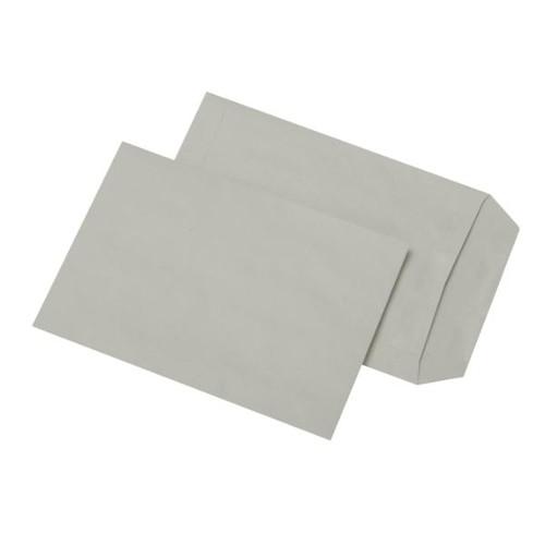 Versandtasche ohne Fenster C5 162x229mm selbstklebend 80g grau Recycling (PACK=500 STÜCK) Produktbild Front View L