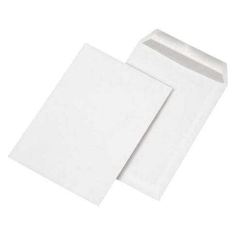Versandtasche ohne Fenster B5 176x250mm selbstklebend 90g weiß mit grauem Innendruck (PACK=500 STÜCK) Produktbild Front View L