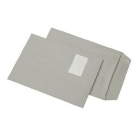 Versandtasche mit Fenster C4 229x324mm selbstklebend 90g grau Recycling (PACK=250 STÜCK) Produktbild