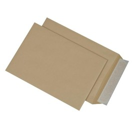Versandtasche ohne Fenster C4 229x324mm mit Haftklebung 110g braun Natron (PACK=250 STÜCK) Produktbild
