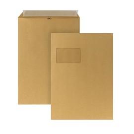 Versandtasche mit Fenster C4 229x324mm mit Haftklebung 110g braun Natron (PACK=250 STÜCK) Produktbild
