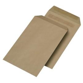 Versandtasche ohne Fenster B4 250x353mm selbstklebend 130g braun Natron (PACK=250 STÜCK) Produktbild
