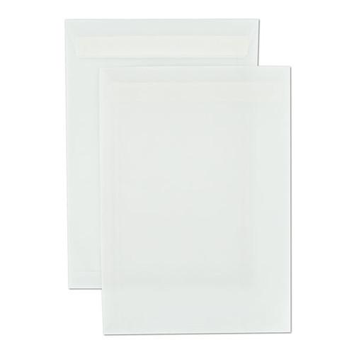 Versandtasche ohne Fenster C4 229x324mm mit Haftklebung 110g transparent weiß (PACK=250 STÜCK) Produktbild Front View L