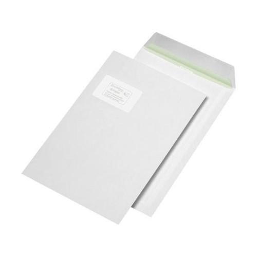 Versandtasche ENVIRELOPE mit Fenster C4 229x324mm mit Haftklebung 90g hochweiß Recycling 103 ISO (PACK=250 STÜCK) Produktbild Front View L