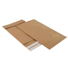Papier Versandtasche braun 250 x 50 x 353 + 50 mm Klappe Festverschluss (KTN=250 STÜCK) Produktbild