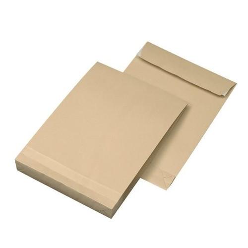 Faltentasche ohne Fenster B5 176x250x40mm mit Haftklebung 120g braun Natron (PACK=250 STÜCK) Produktbild Additional View 3 L