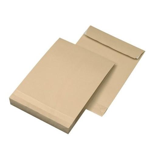 Faltentasche ohne Fenster B5 176x250x40mm mit Haftklebung 120g braun Natron (PACK=250 STÜCK) Produktbild Additional View 4 L