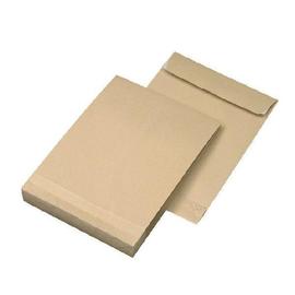 Faltentasche ohne Fenster C4 229x324x20mm mit Haftklebung 120g braun Natron (PACK=250 STÜCK) Produktbild