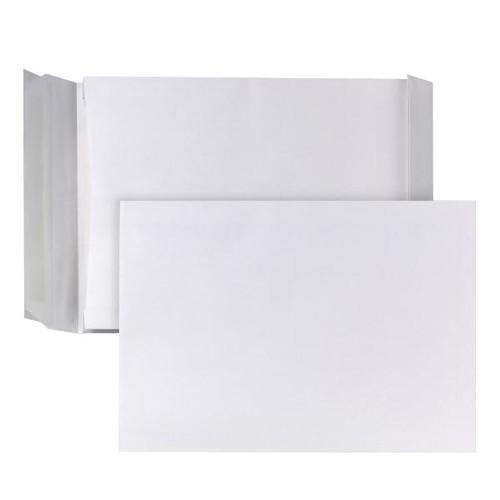 Faltentasche ohne Fenster C4 229x324x40mm mit Haftklebung 140g weiß (PACK=100 STÜCK) Produktbild Additional View 1 L
