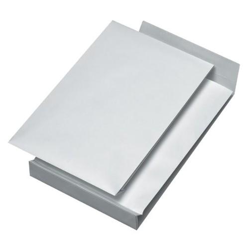 Faltentasche ohne Fenster C4 229x324x40mm mit Haftklebung 140g weiß (PACK=100 STÜCK) Produktbild Additional View 2 L