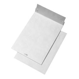Faltentasche TYVEK ohne Fenster C4 229x324x38mm mit Haftklebung 54g weiß Spitzboden (PACK=100 STÜCK) Produktbild