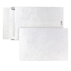 Faltentasche TYVEK ohne Fenster B4 250x353x38mm mit Haftklebung 54g weiß Spitzboden (PACK=100 STÜCK) Produktbild