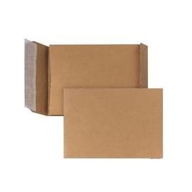 Faltentasche ohne Fenster C5 162x229x30mm mit Haftklebung 110g braun Natron (PACK=250 STÜCK) Produktbild