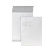 Faltentasche mit Fenster C4 229x324x20mm mit Haftklebung 120g weiß mit grauem Innendruck (PACK=100 STÜCK) Produktbild
