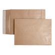 Faltentasche ohne Fenster fadenverstärkt C4 229x324x40mm mit Haftklebung 135g braun/braun (PACK=100 STÜCK) Produktbild Additional View 1 S