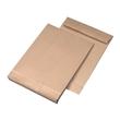 Faltentasche ohne Fenster fadenverstärkt B4 250x353x40mm mit Haftklebung 140g braun/braun (PACK=100 STÜCK) Produktbild Additional View 1 S