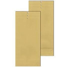 Musterbeutel braun 120 g/m2 Natronpapier 100x245x40mm / mit Seitenfalte Klotzboden und Lochung (PACK=250 STÜCK) Produktbild