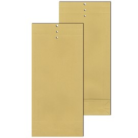 Musterbeutel braun 120 g/m2 Natronpapier 120x305x50mm / mit Seitenfalte Klotzboden und Lochung (PACK=250 STÜCK) Produktbild