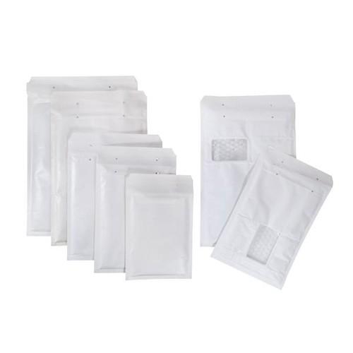 Luftpolsterversandtasche weiß / Fenster Arofol WIN / Typ 7 / IM: 230 x 340mm AM: 250 x 350mm (KTN=100 STÜCK) Produktbild Additional View 2 L