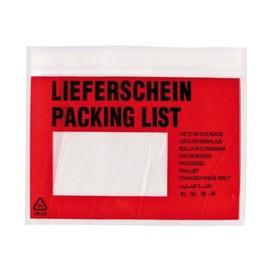 LDPE Begleitpapiertasche transparent C6 175 x 138mm / Lieferschein (PACK=250 STÜCK) Produktbild