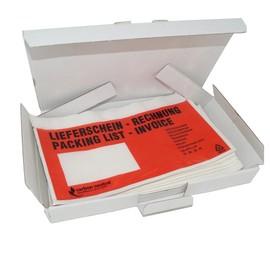 LDPE Begleitpapiertasche DL 240 x 138mm / Lieferschein-Rechnung (PACK=100 STÜCK) Produktbild