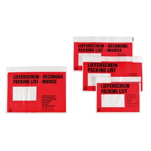 LDPE Begleitpapiertasche C5 240 x 185mm / Lieferschein-Rechnung (PACK=250 STÜCK) Produktbild Additional View 4 L