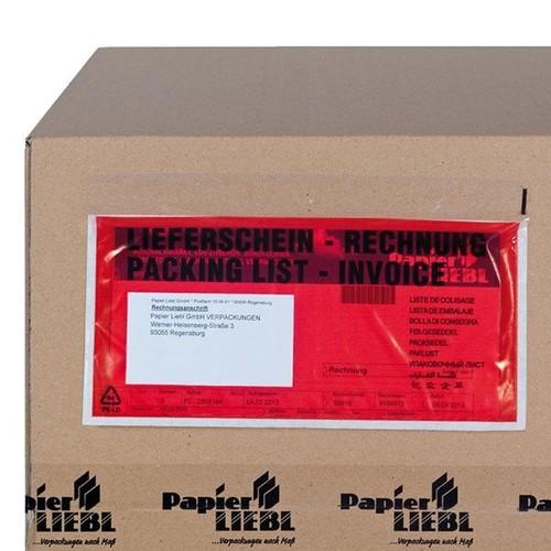 LDPE Begleitpapiertasche C5 240 x 185mm / Lieferschein-Rechnung (PACK=250 STÜCK) Produktbild Additional View 2 L