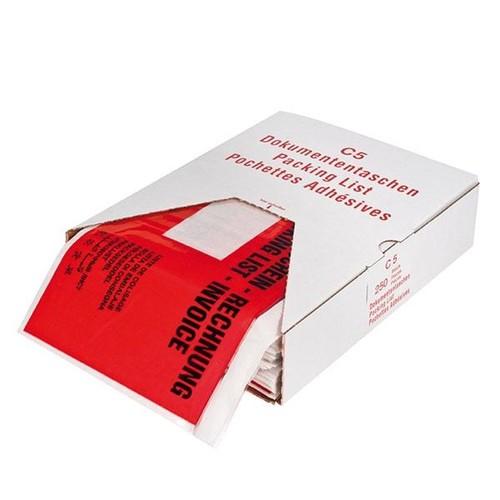 LDPE Begleitpapiertasche C5 240 x 185mm / Lieferschein-Rechnung (PACK=250 STÜCK) Produktbild Additional View 3 L