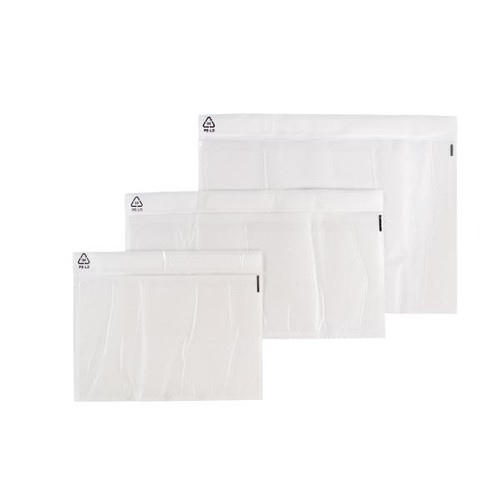 LDPE Begleitpapiertasche transparent C4 340 x 250mm / ohne Druck (PACK=500 STÜCK) Produktbild Additional View 3 L