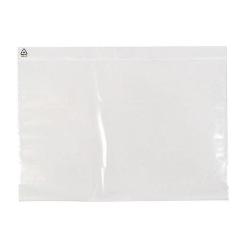 LDPE Begleitpapiertasche transparent C4 340 x 250mm / ohne Druck (PACK=500 STÜCK) Produktbild